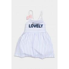 Φόρεμα ριγέ γαλάζιο-λευκό 32-754