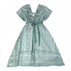 Φόρεμα πράσινο εμπριμέ 6013 Chief