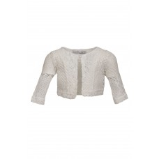 Ζακέτα λευκή κιπούρ 422 M&B Fashion